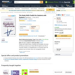 The Study Skills Toolkit for Students with Dyslexia (Click to go to Amazon)