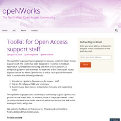 Toolkit for Open Access support staff