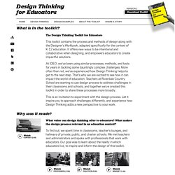 About the Toolkit « Design Thinking for Educators