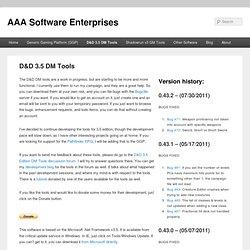 D&D 3.5 Edition DM tools