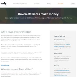 SEO Tools Affiliate Program - Raven