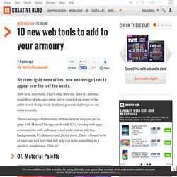 10 new web tools to add to your armoury