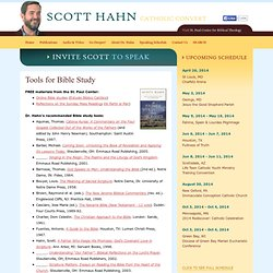Tools for Bible Study - Scott Hahn