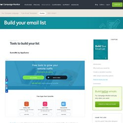 10 tools to build your email list