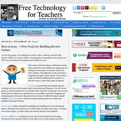 Best of 2015 - 7 Free Tools for Building Review Games