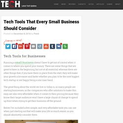 Tech Tools That Every Small Business Should Consider