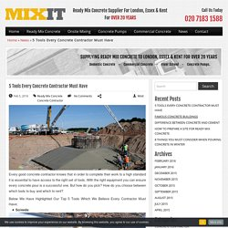 List Of Must Required Tool For Construction Site.