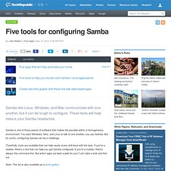 Five tools for configuring Samba
