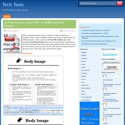 10 Free tools to convert PDF to WORD and other formats