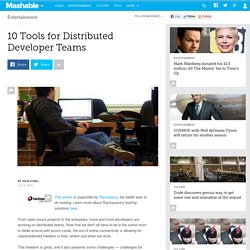 10 Tools for Distributed Developer Teams