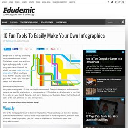 10 Fun Tools To Easily Make Your Own Infographics