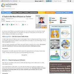5 Tools to Be More Efficient on Twitter
