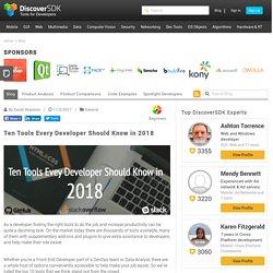 Ten ToolsEveryDeveloper Should Know in 2018