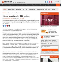 4 tools for automatic CSS testing