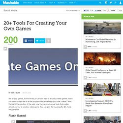 20+ Tools For Creating Your Own Games