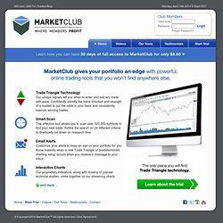 MarketClub: Tools For The Trader