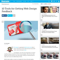 10 Tools for Getting Web Design Feedback