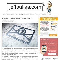 4 Tools to Grow Your Email List Fast