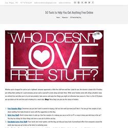 50 Herramientas para ayudarle a conseguir nada gratis en línea