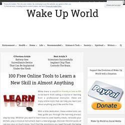100 Free Tools to Learn a New Skill in Almost Anything