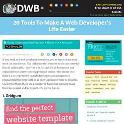 20 Tools To Make A Web Developer's Life Easier
