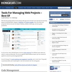 Tools for Managing Web Projects – Best Of