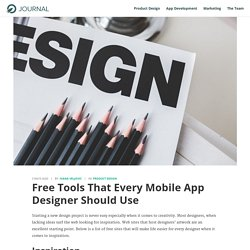 Free Tools That Every Mobile App Designer Should Use