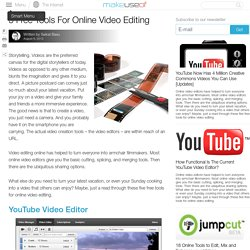 5 Free Tools For Online Video Editing