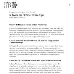 5 Tools für Online Warm-Ups ⋆ Wilde Workshop Spiele