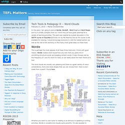 » Tech Tools & Pedagogy II – Word Clouds TEFL Matters