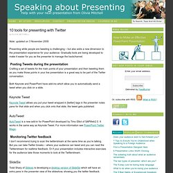 Tools for presenting with Twitter