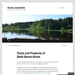 Tools and Products of Seek-Sense-Share