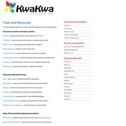 Tools and Resources : KwaKwa.com