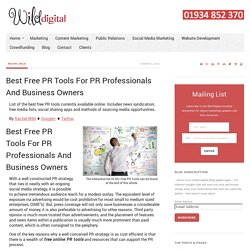 Best Free PR Tools, Best Free Resources For PR Professionals