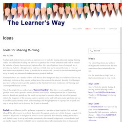 Tools for sharing thinking