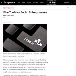 Five Tools for Social Entrepreneurs