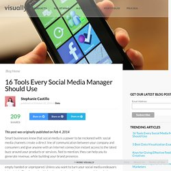 16 Tools Every Social Media Manager Should Use