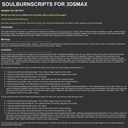 CG Tools - SoulburnScripts for 3dsmax
