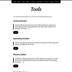 Tools – sprite-kit.com