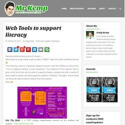 Web Tools to support literacy
