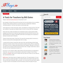 6 Tools for Teachers by Bill Gates - NSays.in