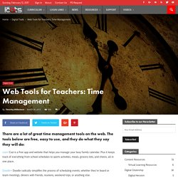 Web Tools for Teachers: Time Management