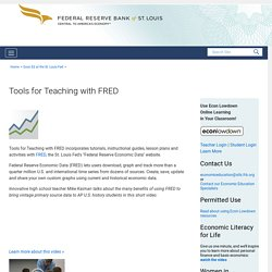 Tools for Teaching with FRED