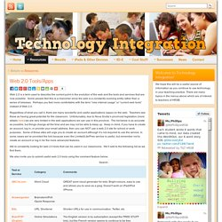 Web 2.0 Tools/Apps » Technology Integration