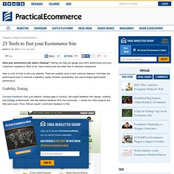 23 Tools to Test your Ecommerce Site