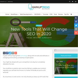New Tools That Will Change SEO in 2020