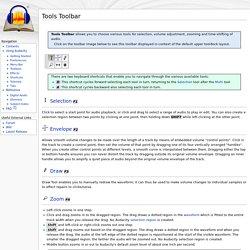 Tools Toolbar