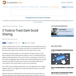 5 Tools to Track Dark Social Sharing