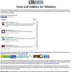 Tools and utilities for Windows