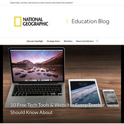 10 Free Tech Tools & Websites Every Teacher Should Know About